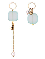 cheap -Women's Mismatched Mismatch Earrings - Stylish, Elegant Light Pink / Light Green For Daily / Work