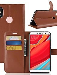 Недорогие -Кейс для Назначение Xiaomi Redmi S2 / Mi 8 Кошелек / Бумажник для карт / Флип Чехол Однотонный Твердый Кожа PU для Redmi Note 5A / Xiaomi Redmi Note 5 Pro / Xiaomi Redmi Примечание 5 / Xiaomi Mi 6