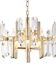 cheap -LWD 8-Light Crystal Chandelier Ambient Light - Creative, Candle Style, 110-120V / 220-240V Bulb Not Included / 15-20㎡