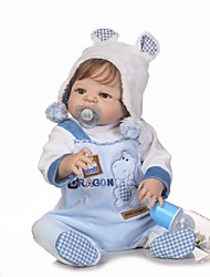 cheap -NPKCOLLECTION Reborn Doll Baby Boy 24 inch Full Body Silicone / Silicone / Vinyl - lifelike, Artificial Implantation Blue Eyes Kid's Boys' Gift