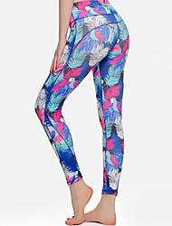 baratos -Mulheres Bolsos Calças de Yoga - Preto, Verde Azulado, Azul Pálido Esportes Elastano Meia-calça / Leggings Roupas Esportivas Leve, Respirabilidade Elasticidade Alta