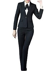 baratos -Mulheres Ternos / Conjuntos Trabalho Sólido / Primavera / Outono