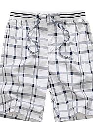 economico -Per uomo Taglie forti Pantaloncini Pantaloni - A scacchi / Ufficio