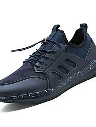 Hombre Zapatos Malla / Tela Elástica Verano Confort Zapatillas de Atletismo Running Negro t5i5B