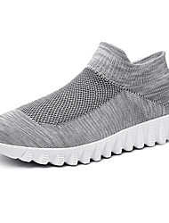 cheap -Men's Knit / Elastic Fabric Summer Comfort Athletic Shoes Running Shoes Color Block Black / Gray
