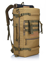 cheap -50 L Hiking Backpack - Rain-Proof, Wearable Outdoor Military, Travel Oxford Camouflage, Rough Black, Khaki