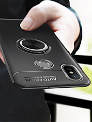 Недорогие -Кейс для Назначение Xiaomi Mi 8 / Mi 6X Кольца-держатели Кейс на заднюю панель Однотонный Мягкий ТПУ для Xiaomi Mi Mix 2 / Xiaomi Mi Mix 2S / Xiaomi Mi 8
