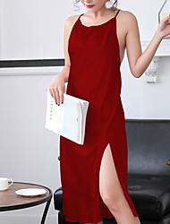 cheap -Women's Suits Nightwear - Criss-Cross, Solid Colored