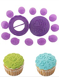 Недорогие -Инструменты для выпечки пластик Креатив Своими руками Печенье Cupcake Для мороженого Формы для пирожных Десерт Декораторы Инструменты для выпечки 14pcs