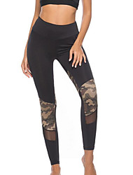 cheap -Women's Daily Basic Legging - Solid Colored, Lace High Waist