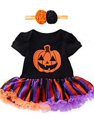 お買い得  -赤ちゃん 女の子 プリント 半袖 ドレス