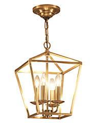 abordables -ZHISHU 4 lumières Géométrique / Mini Lustre Lumière d'ambiance - Style mini, 110-120V / 220-240V Ampoule non incluse