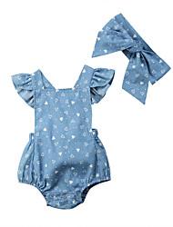 お買い得  -2本 赤ちゃん 女の子 プリント ノースリーブ ワンピース