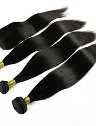 Недорогие -3 комплекта с закрытием Перуанские волосы Прямой 8A Натуральные волосы One Pack Solution Естественный цвет Ткет человеческих волос Удлинитель Расширения человеческих волос Жен.