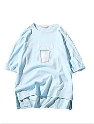 お買い得  -メンズプラスサイズのコットンTシャツ - 幾何学的なラウンドネック