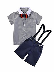 cheap -Baby Boys' Color Block Short Sleeve Clothing Set