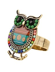 cheap -Women's Open Ring - Owl, Animal Adjustable Green / Blue For Daily / Date