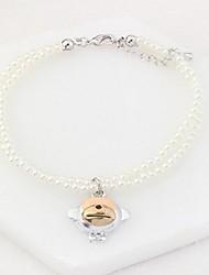 economico -Per donna Scultura Braccialetti del filo - Perle finte Di tendenza, Elegante Bracciali Argento Per Cerimonia Appuntamento