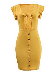 preiswerte -Damen Bodycon Kleid Mini