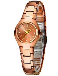 baratos -Mulheres Relógio de Pulso Japanês Cronógrafo / Fofo / Relógio Casual Aço Inoxidável Banda Rígida / Elegante Prata / Ouro Rose / Dois anos