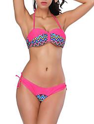 preiswerte -Damen Bikinis Gestreift Tie Side Bikini