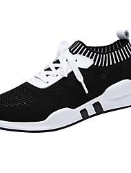 Недорогие -Жен. Обувь Сетка Осень Удобная обувь Спортивная обувь Для фитнеса На плоской подошве Круглый носок Черный / Красный