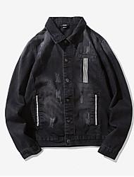 Недорогие -Муж. Джинсовая куртка Винтаж - Современный стиль