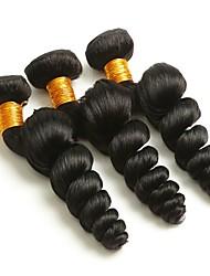 abordables -Lot de 3 Cheveux Brésiliens Ondulation Lâche 8A Cheveux Naturel humain Tissages de cheveux humains Bundle cheveux Extensions Naturelles 8-28 pouce Couleur naturelle Tissages de cheveux humains