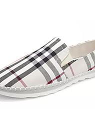 abordables -Homme Chaussures Toile Printemps & Automne Semelles Légères Mocassins et Chaussons+D6148 Noir / Beige / Rouge