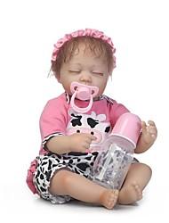 baratos -NPKCOLLECTION Bonecas Reborn Bebês Meninas 18 polegada Vinil de Criança Para Meninas Dom