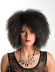 Недорогие -Парики из искусственных волос Кудрявый Черный Стрижка каскад Черный как смоль Medium Auburn Искусственные волосы Жен. Для вечеринок Черный / Коричневый Парик Короткие Без шапочки-основы