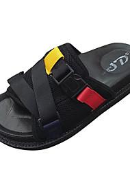 お買い得  -女性用 靴 PUレザー 春夏 スリングバック サンダル クリーパーズ グレー / レッド / ブルー