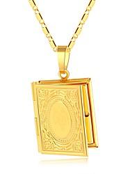 levne -Dámské Silný řetězec Náhrdelníky s přívěšky - Medailónek Vintage, Geleneksel Zlatá, Stříbrná 50 cm Náhrdelníky 1ks Pro Párty, Dar