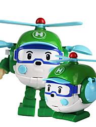 Недорогие -Игрушечные машинки Вертолет трансформируемый Пластиковый корпус Детские Все Мальчики Девочки Игрушки Подарок 1 pcs