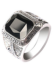cheap -Men's Band Ring - Vintage, European, Fashion Black / Dark Red For Halloween / Gift