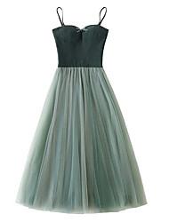 cheap -Women's Loose Chiffon Dress Layered / Mesh Strap