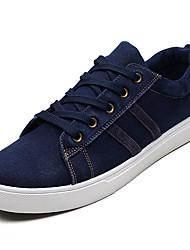 Недорогие -Муж. Полотно Лето Удобная обувь Кеды Черный / Серый / Синий
