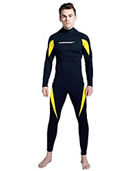 cheap -Men's Full Wetsuit 3mm SCR Neoprene Diving Suit Anatomic Design, UV Resistant Long Sleeve Back Zip Graphic Autumn / Fall / Spring / Winter