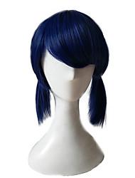 Недорогие -Парики из искусственных волос Кудрявый Стрижка каскад Искусственные волосы Для вечеринок Синий Парик Жен. Длинные Без шапочки-основы