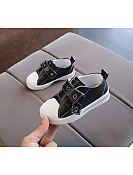cheap -Boys' Shoes Microfiber Spring / Fall Comfort Sneakers Magic Tape for Baby White / Black