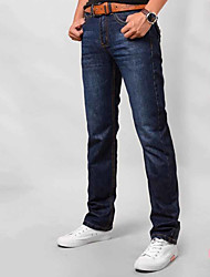 cheap -Men's Slim Jeans Pants - Solid Colored / Work