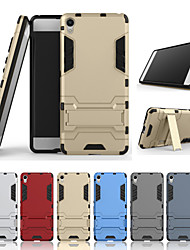 Недорогие -Кейс для Назначение Sony Xperia XA со стендом Кейс на заднюю панель Однотонный Твердый ПК для Sony Xperia XA