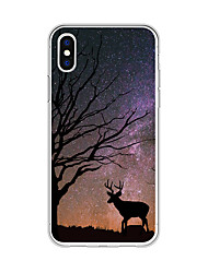 billige -Etui Til Apple iPhone X / iPhone 8 Plus Mønster Bagcover Landskab / Dyr / Tegneserie Blødt TPU for iPhone X / iPhone 8 Plus / iPhone 8