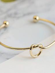 abordables -Femme Incompatibilité Bracelets Rigides - Plaqué or Européen, Décontracté / Sport, Mode Bracelet Or / Argent Pour Quotidien Rendez-vous