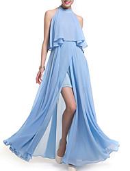 cheap -Women's Loose Chiffon Dress Maxi Halter Neck