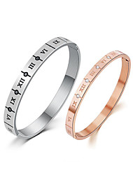 cheap -Men's Cubic Zirconia Bangles - Rose Gold Simple, Korean, Fashion Bracelet Silver / Rose Gold For Daily / Date
