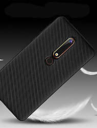 Недорогие -Кейс для Назначение Nokia Nokia 7 Plus / Nokia 6 2018 Ультратонкий Кейс на заднюю панель Однотонный Мягкий ТПУ для Nokia 9 / Nokia 8 /