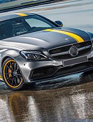 abordables -Jaune Autocollant pour auto Sportif Autocollants pleine voiture Non spécifié Autocollants