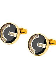 preiswerte -Geometrische Form Golden Manschettenknöpfe Kupfer Formell / Klassisch Alles Modeschmuck Für Hochzeit / Formal