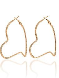 Недорогие -Жен. Серьги-кольца - Сердце Милая, Элегантный стиль Золотой Назначение Для вечеринок Для улицы